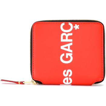 Sacs Femme Portefeuilles Comme Des Garcons Portefeuille  Huge Logo en cuir Rouge