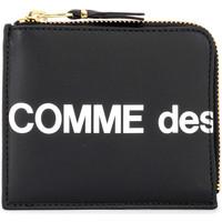 Sacs Femme Portefeuilles Comme Des Garcons Portafoglio  Huge Logo chiusura a L Noir