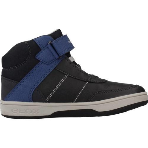 Chaussures J94g3a Garçon Montantes Geox Noir Baskets 8X0OPwnk