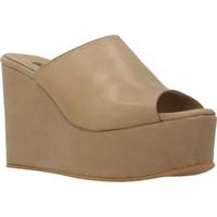 Chaussures Femme Mules Clover 89822 Brun