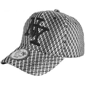Accessoires textile Enfant Casquettes Hip Hop Honour Casquette Enfant Noire et Argent Acy Baseball NY de 7 à 12 ans Noir