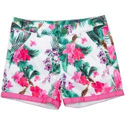 Vêtements Fille Shorts / Bermudas Interdit De Me Gronder PALMA Rose fuschia