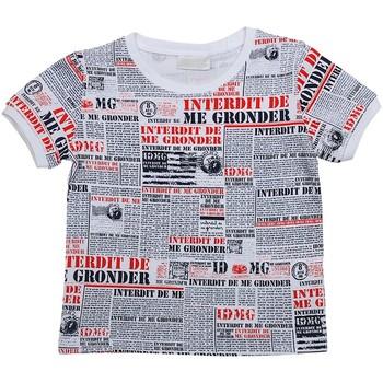 Vêtements Garçon T-shirts manches courtes Interdit De Me Gronder NEWSPAPER Blanc