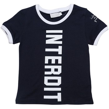 Vêtements Garçon T-shirts manches courtes Interdit De Me Gronder BIG Bleu marine