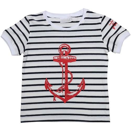 Vêtements Enfant T-shirts manches courtes Interdit De Me Gronder ANCRE Bleu marine