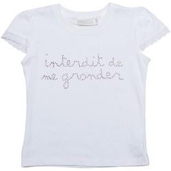 Vêtements Fille T-shirts manches courtes Interdit De Me Gronder STRASSITA Blanc