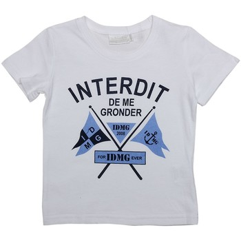 Vêtements Garçon T-shirts manches courtes Interdit De Me Gronder FLAG Blanc