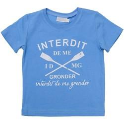 Vêtements Garçon T-shirts manches courtes Téléchargez lapplication pour RAME Bleu ciel