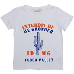 Vêtements Enfant T-shirts manches courtes Interdit De Me Gronder ARIZONA Blanc