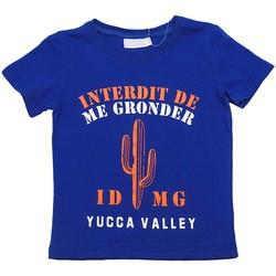 Vêtements Garçon T-shirts manches courtes Interdit De Me Gronder ARIZONA Bleu roi