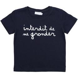 Vêtements Enfant T-shirts manches courtes Interdit De Me Gronder L'INTERDIT Bleu marine