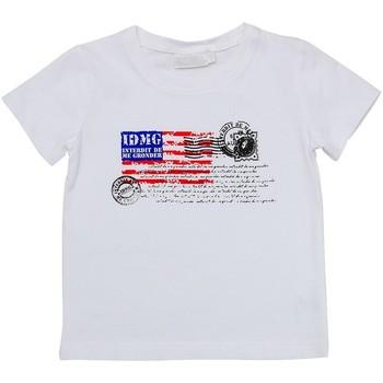 Vêtements Enfant T-shirts manches courtes Interdit De Me Gronder USA Blanc