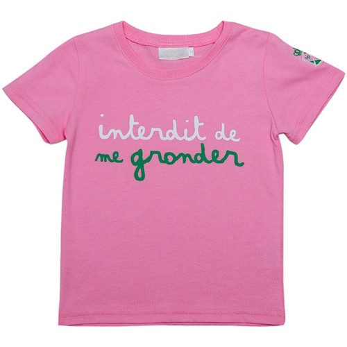 Vêtements Fille T-shirts manches courtes Interdit De Me Gronder TENNIS Rose