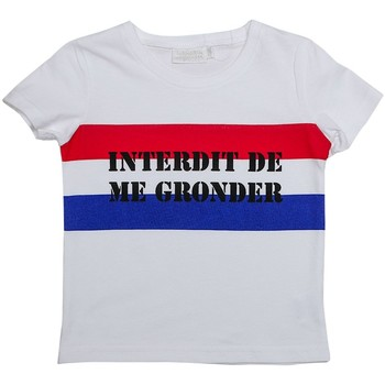 Vêtements Garçon T-shirts manches courtes Interdit De Me Gronder WAX Blanc