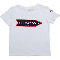 Vêtements Enfant T-shirts manches courtes Interdit De Me Gronder STREET Blanc