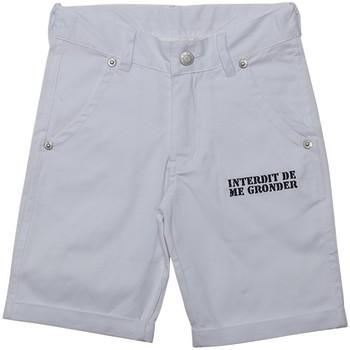 Vêtements Garçon Shorts / Bermudas Interdit De Me Gronder PLAYA Blanc