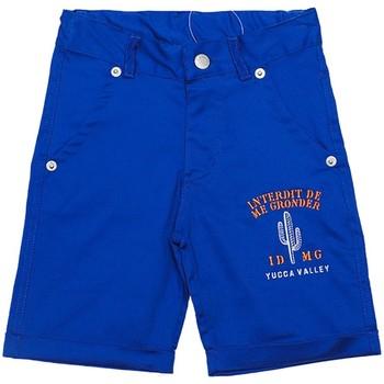 Vêtements Garçon Shorts / Bermudas Interdit De Me Gronder INDIANA Bleu roi