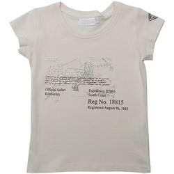 Vêtements Fille T-shirts manches courtes Interdit De Me Gronder ROAD Ecru