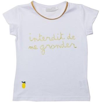 Vêtements Fille T-shirts manches courtes Interdit De Me Gronder PINAPPLE Ecru