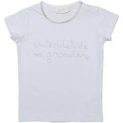 Vêtements Fille T-shirts manches courtes Interdit De Me Gronder LILY Blanc