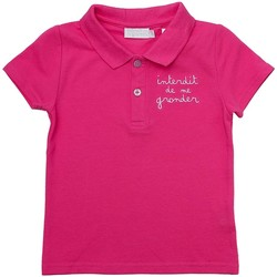 Vêtements Fille Polos manches courtes Interdit De Me Gronder HOLLY Rose fuschia