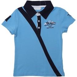 Vêtements Garçon Polos manches courtes Interdit De Me Gronder NEW Bleu ciel