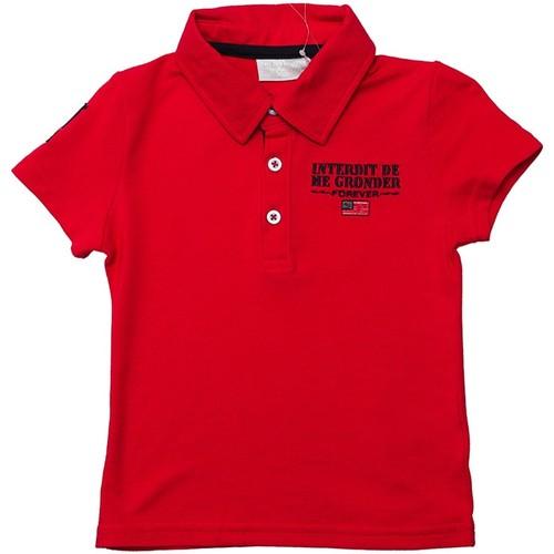 Vêtements Garçon Polos manches courtes Interdit De Me Gronder CADILLAC Rouge