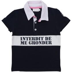 Vêtements Fille Polos manches courtes Interdit De Me Gronder WIMBLEDON Bleu marine
