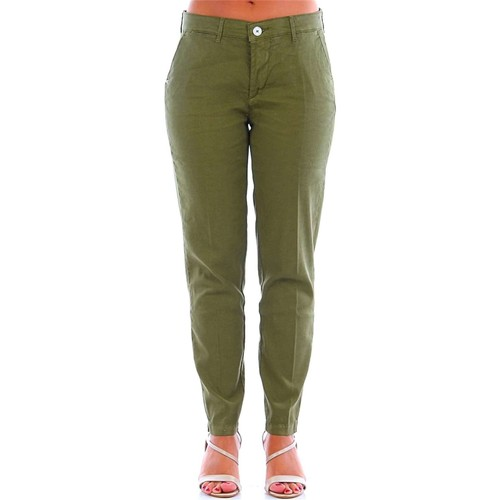 Vêtements Femme Chinos / Carrots Zero Construction SATELA LINO Vert