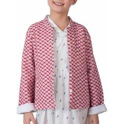 Vêtements Fille Vestes / Blazers Zen Ethic Veste matelassée imprimée Mina Rouge