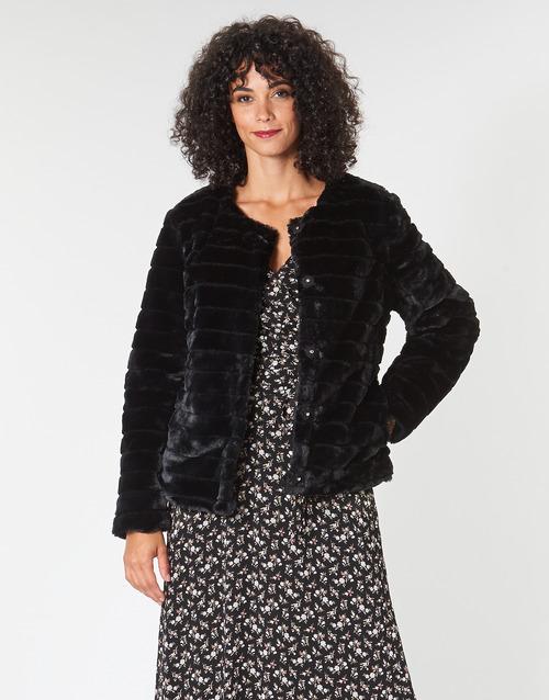 Vêtements Femme Manteaux Lauren Ralph Lauren FAUX CHUBBY Noir