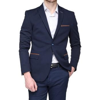 Vêtements Homme Vestes de costume Mackten Blazer cintré Bleu