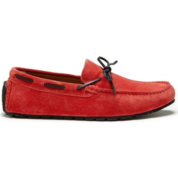 Chaussures Homme Mocassins Hugs & Co. Lacé Mocassins Pneu Daim Rouge