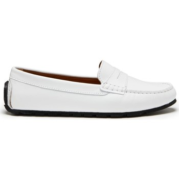 Chaussures Femme Mocassins Hugs & Co. Mocassins Penny Pneu Cuir Blanc