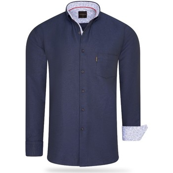 Vêtements Homme Chemises manches longues Cappuccino Italia Regular Fit Overhemd Navy Bleu