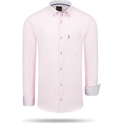 Vêtements Homme Chemises manches longues Cappuccino Italia Regular Fit Overhemd Pink Rose
