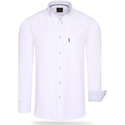 Vêtements Homme Chemises manches longues Cappuccino Italia Regular Fit Overhemd White Blanc