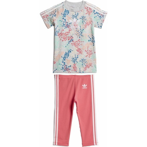 Vêtements Fille Ensembles enfant adidas Originals TEE DRESS SET COMPLETINO GRIGIO Gris