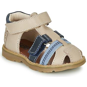 Chaussures Garçon Sandales et Nu-pieds GBB DIMMI Beige / Bleu