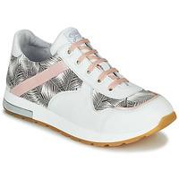 Chaussures Fille Baskets basses GBB LELIA Blanc / Noir / Rose