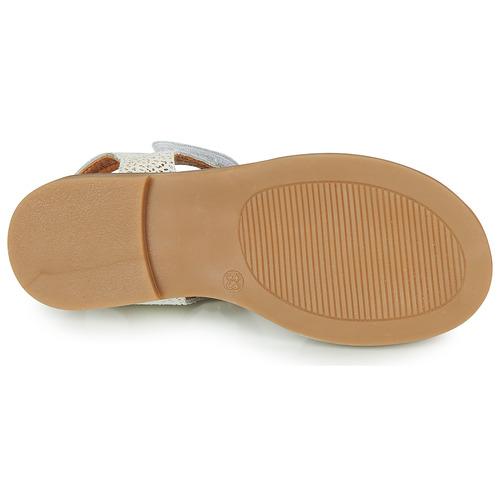 Gbb Farena Blanc / Doré - Livraison Gratuite- Chaussures Sandale Enfant 6500