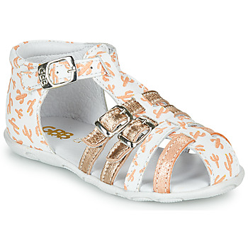 Chaussures Fille Sandales et Nu-pieds GBB RIVIERA Blanc / Rose