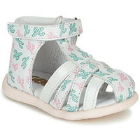 Chaussures Fille Sandales et Nu-pieds GBB AGRIPINE Blanc / Vert / Rose