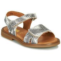 Chaussures Fille Sandales et Nu-pieds GBB CAVOLA Blanc / Noir