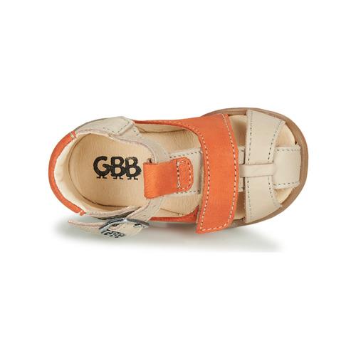 Gbb Serolo Beige / Orange - Livraison Gratuite- Chaussures Sandale Enfant 5900