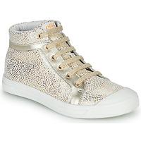 Chaussures Fille Baskets montantes GBB NAVETTE Blanc / Doré