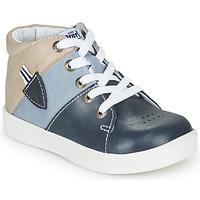 Chaussures Garçon Baskets montantes GBB AMOS Bleu / Gris
