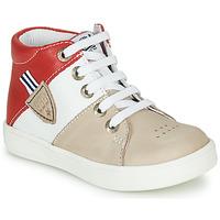 Chaussures Garçon Baskets montantes GBB AMOS Beige / Blanc / Rouge