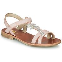 Chaussures Fille Sandales et Nu-pieds GBB SAPELA Rose / Argenté