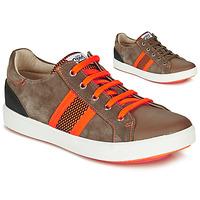 Chaussures Garçon Baskets basses GBB ANTENO Marron / Orange
